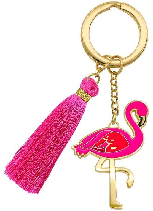 THE WORLD OF ANIMALS Beyond Charms Keychain - Flamingo