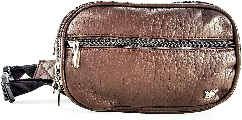 Purse King Explorer Fashion Waist Pack (Dark Brown)