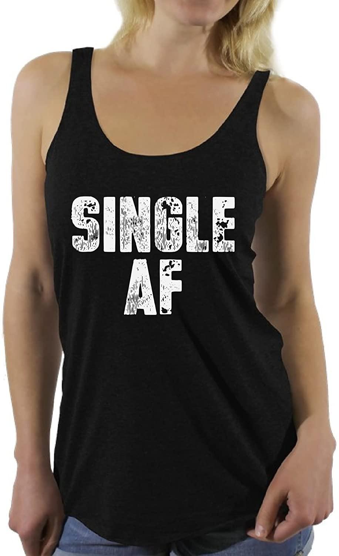 Awkward Styles Women's Single AF Racerback Tank Tops Forever Alone Racerback Tank Tops