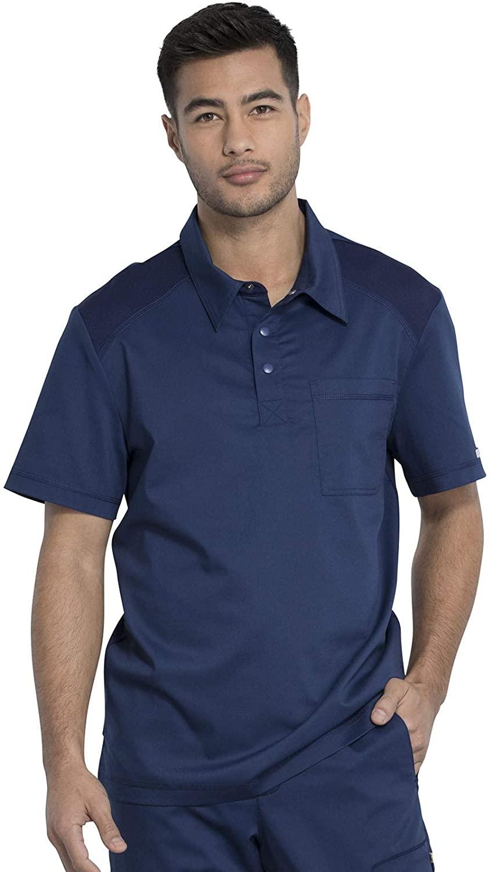 CHEROKEE Workwear WW Revolution Men's Men's Polo Shirt, WW615, 5XL, Navy