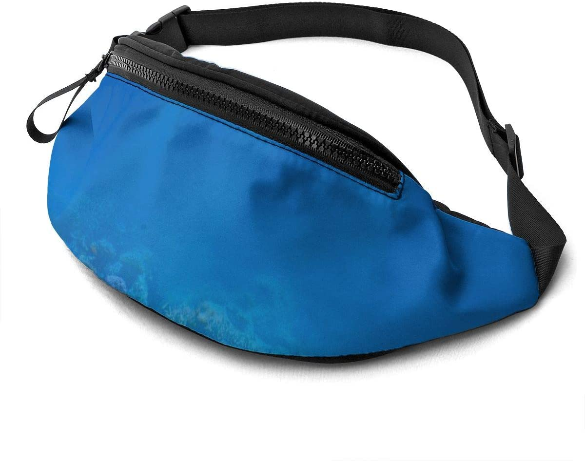 Blue Underwater World Fanny Pack Fashion Waist Bag