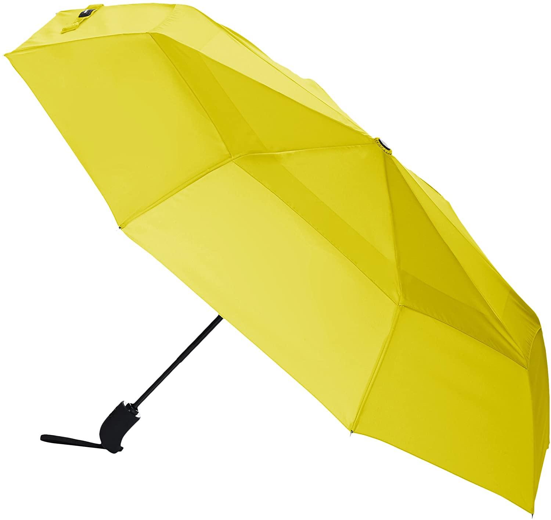 DHgateBasics Automatic Open Travel Umbrella with Wind Vent - Yellow