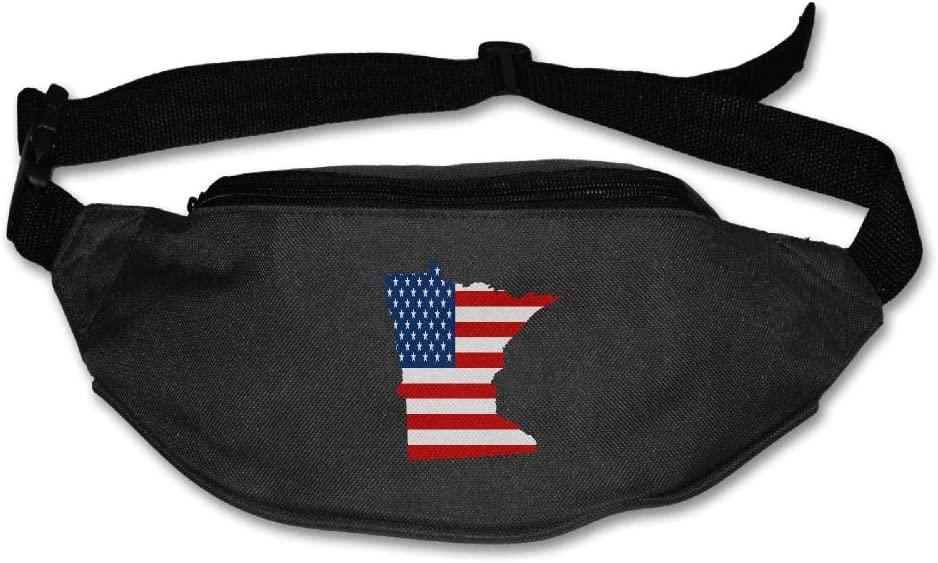 Eden Edies Minnesota State Map Shape The USA Flag Unisex Waist Pack Bag Belt
