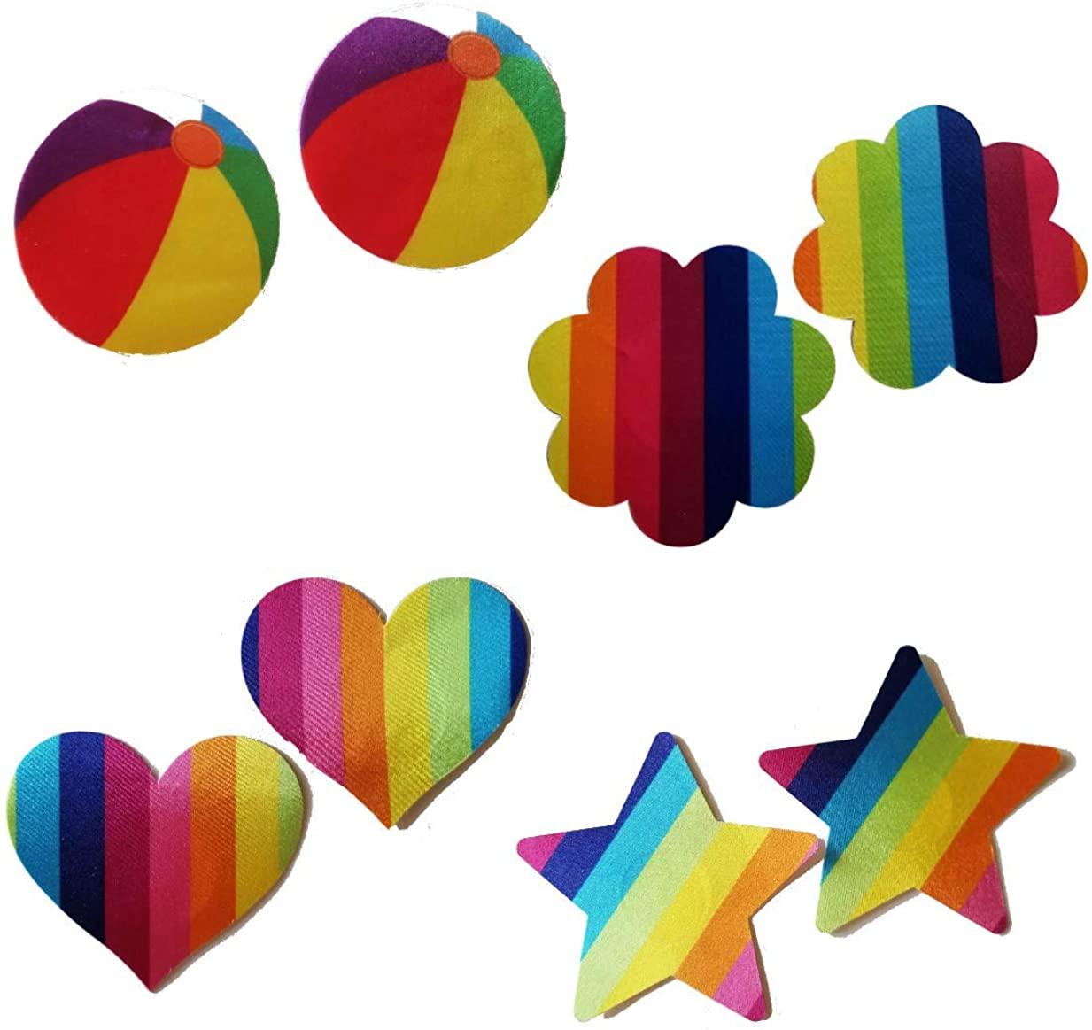 Rainbow Pastie Set