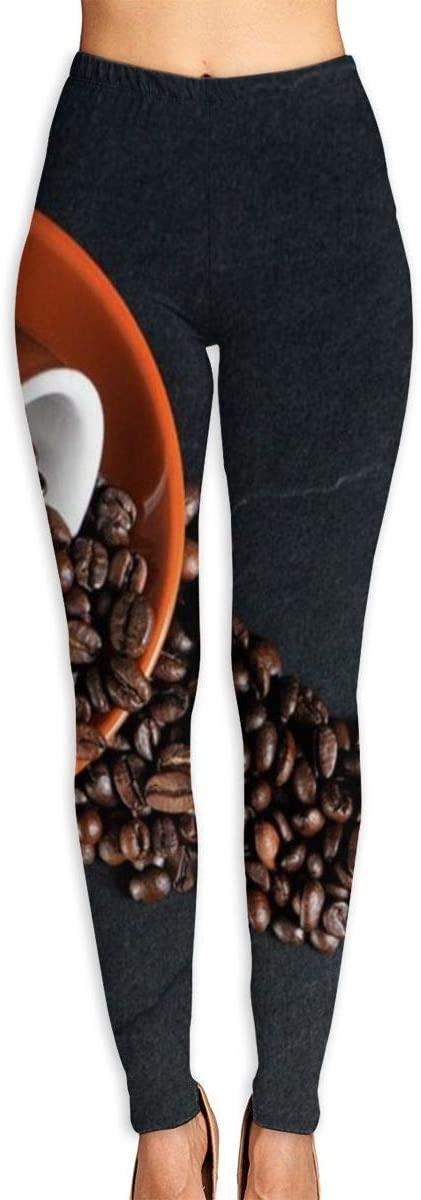 Nzioap0 Women's Soft Lightweight Coffee Beans Leggings High Waist Yoga Pants Training Leggings