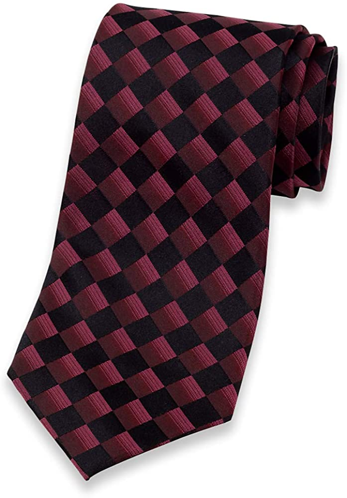 Paul Fredrick Mens Geometric Silk Tie
