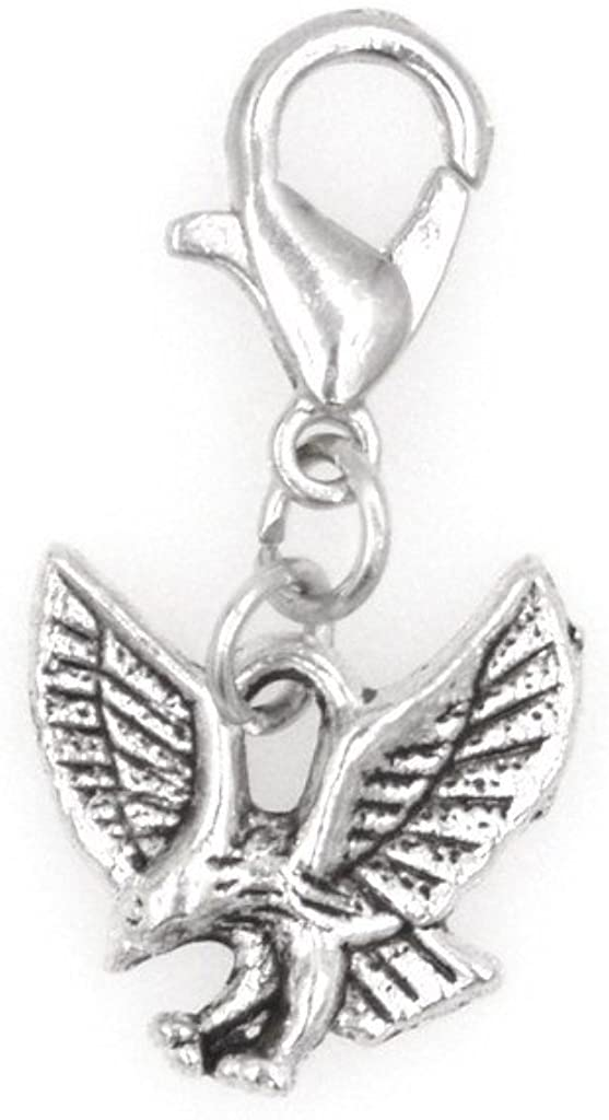 It's All About...You! Small Eagle Clip on Charm Perfect for Necklaces and Bracelets 100D
