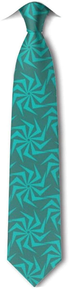 Abstract Swirl Floral Men's Classic Necktie For Wedding Party Business Tie