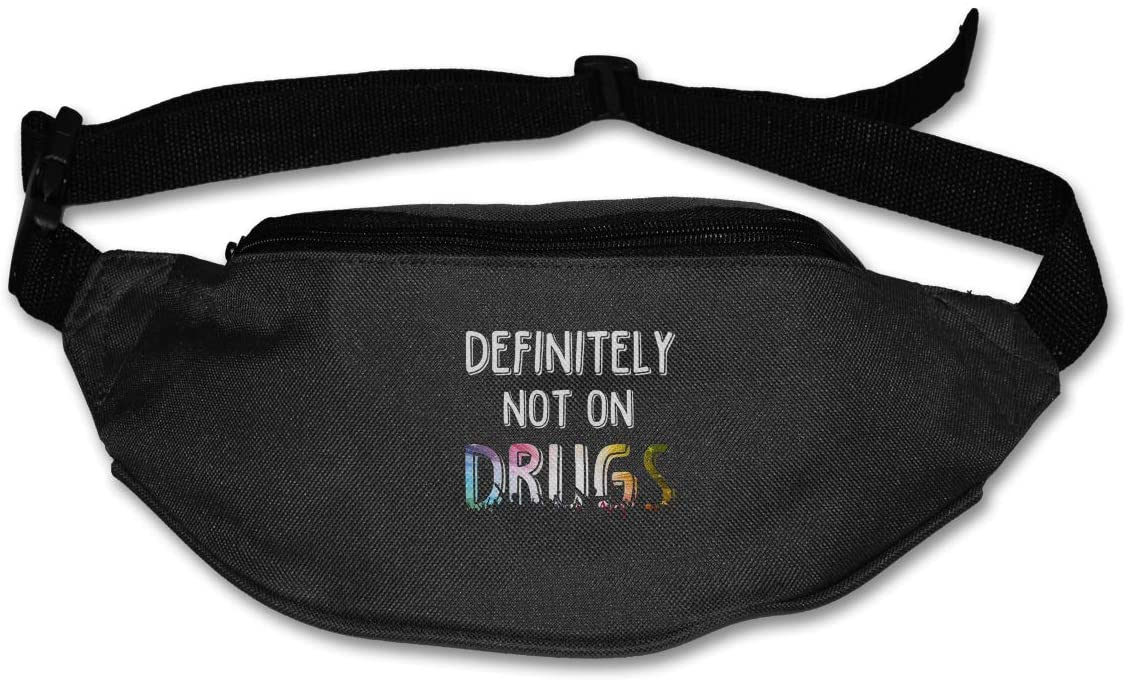 Definitely Not On Drugs Unisex Pockets Belt Bags Sport Waist Bags