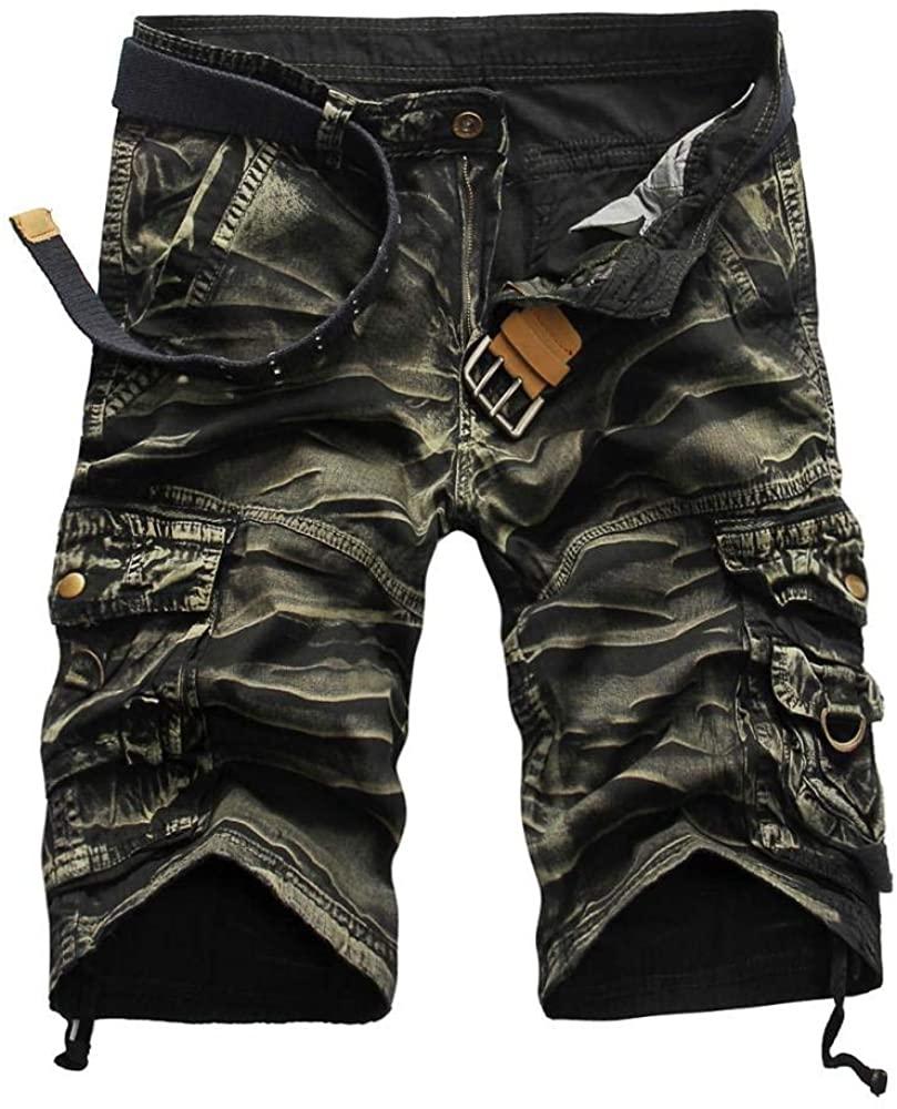 nnbb Men's Large Multi-Pocket Loose Five-Cent Pants