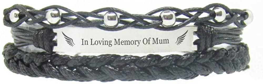 Miiras Remembrance Bracelet, Memorial Jewelry - in Loving Memory of Mum - Black 1- Beautiful Way to Remember Your Mum That is no Longer with You