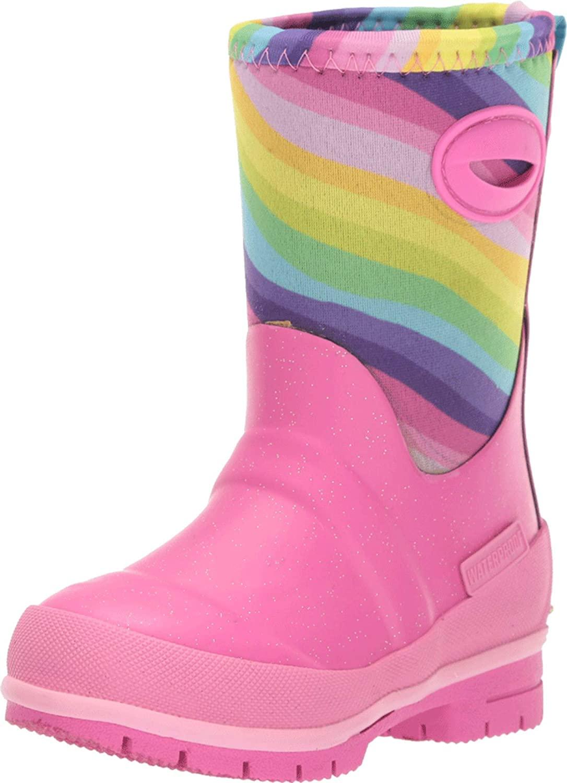 Western Chief Kids Girl's Glitter Rainbow Neoprene Boot (Toddler/Little Kid/Big Kid)