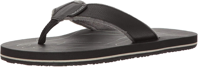 Scott Hawaii Men's Papio Vegan Leather Sandals   Soft Terrycloth Lined Flip Flops   Cozy Beach Sandal