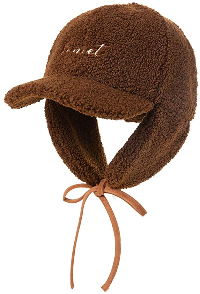 Kids Winter Aviator Warm Berber Fleece Earflap Hats Caps