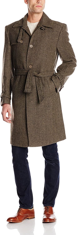 STACY ADAMS Men's Mick Three Button Top Coat