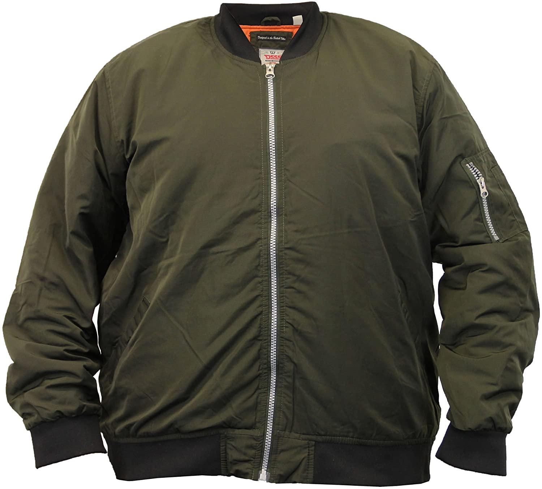 D555 Mens Duke Big King Size MA1 Harrington Jacket GREGORY