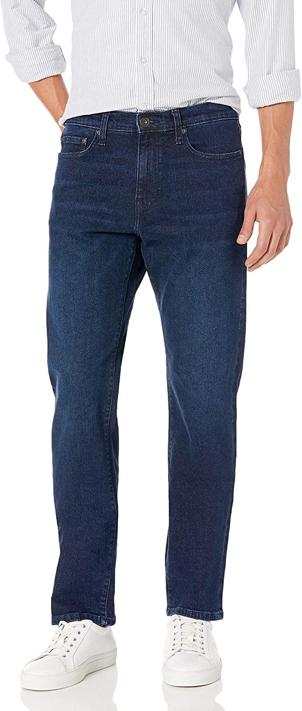 DHgate Brand - Goodthreads Men's Straight-Fit Comfort Stretch Jean, Dark Blue Sanded 30W x 34L
