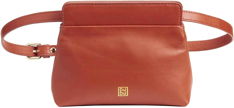 DUDU Waist Bag Leather for Women with Removable Shoulder Strap Belt Bag Pochette and Magnetic Closure