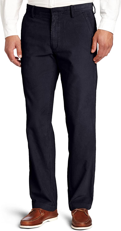Haggar Men's Life Khaki Corduroy Plain-Front Chino Pant
