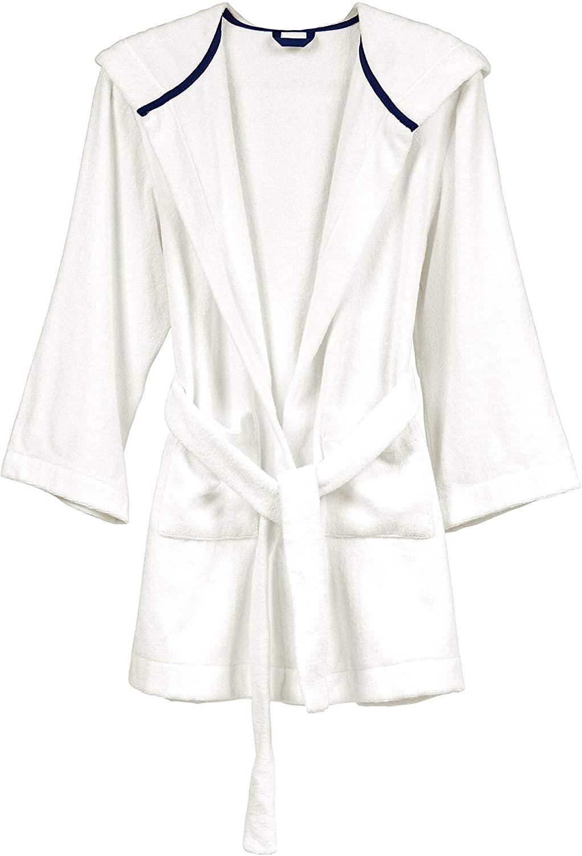 Hemp Bath & Beach Hooded Robe, Boys & Girls, Ivory, Luxurious & Sustainable Hemp