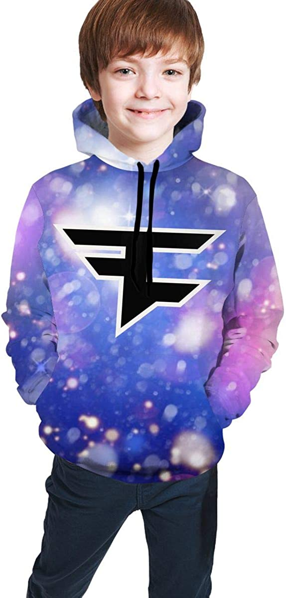 Faze Clan Logo Youth Hoodie Pullover Hooded Sweatshirt Teen Hoodies for Boys and Girls