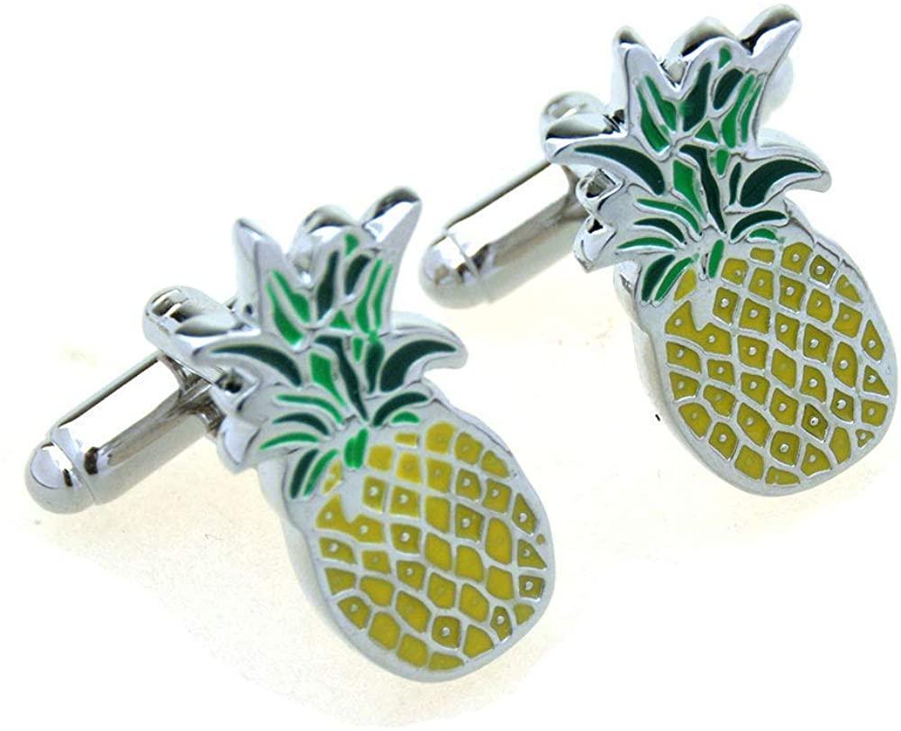 Pineapple Hawaii Fruit Cook Chef Cufflinks