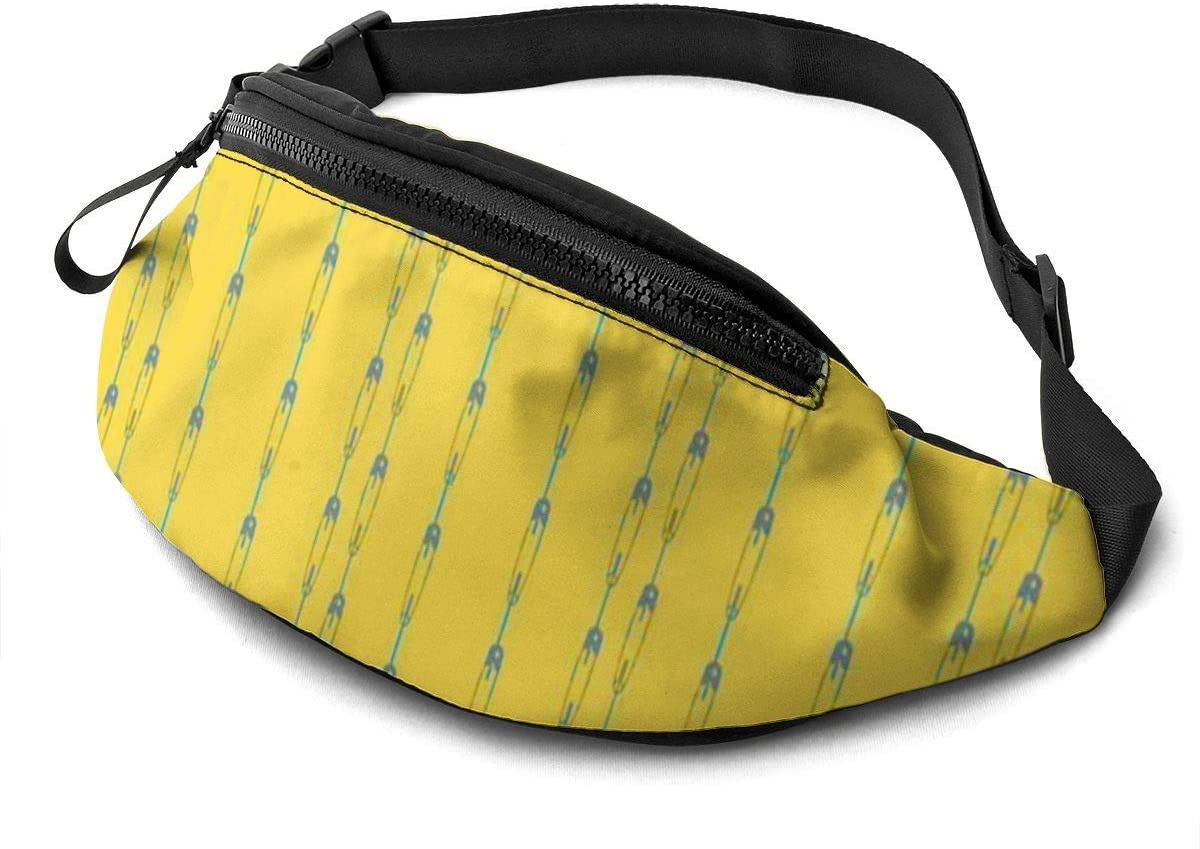 Project Yellow Fanny Pack For Men Women Waist Pack Bag With Headphone Jack And Zipper Pockets Adjustable Straps
