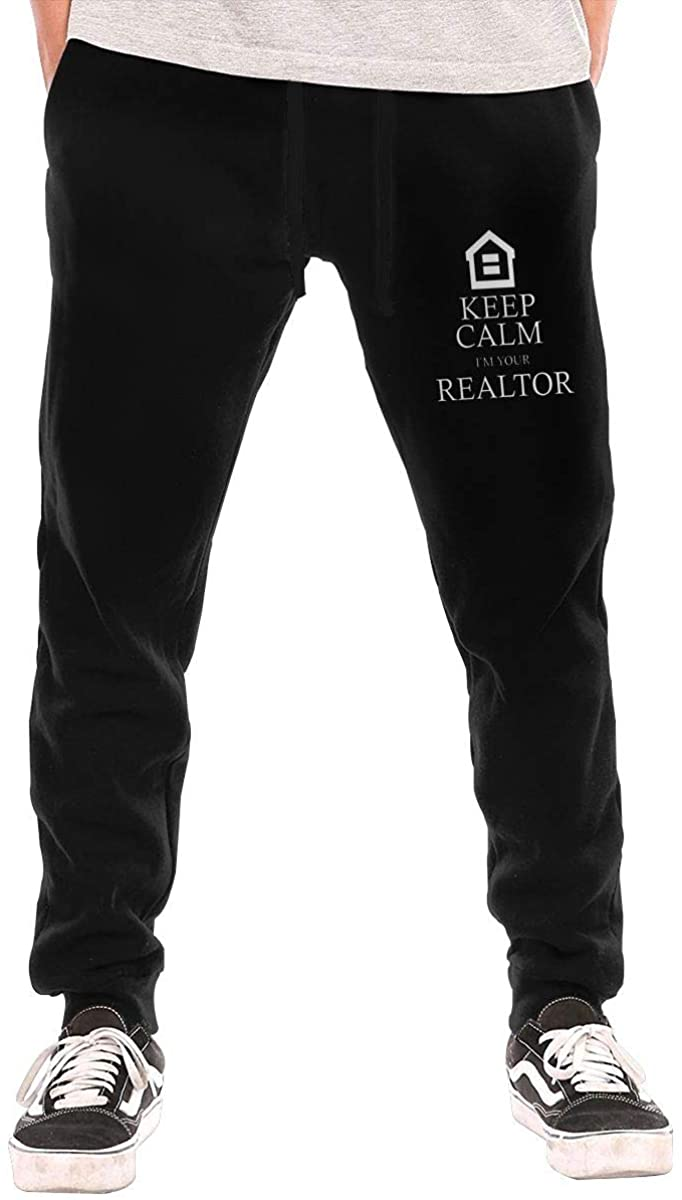 WFIRE Keep Calm I'm Your Realtor. Men Jogger Sweatpants Sports Long Tights Pants