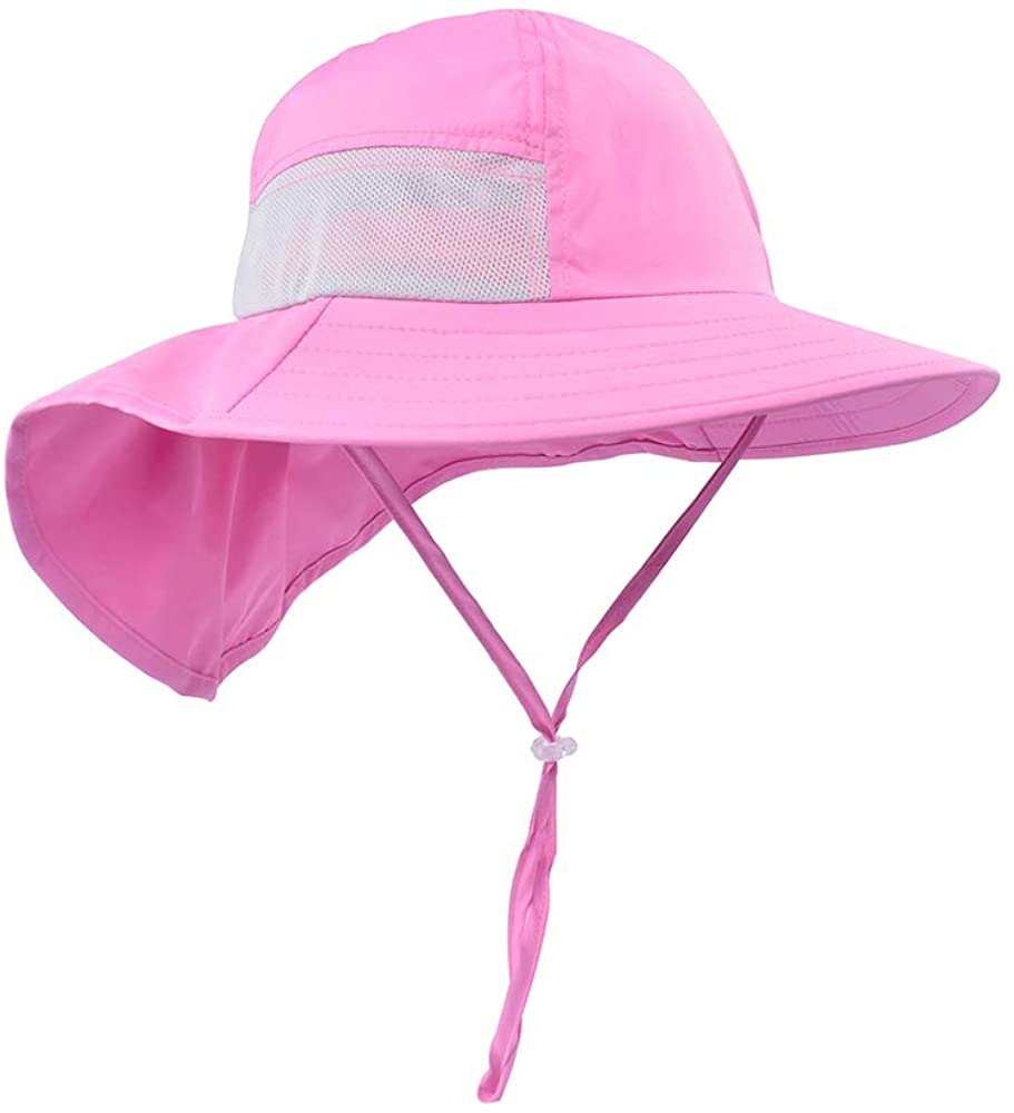 Toddler Sun Hat Kids Outdoor Activities UV Protecting Sun Hats with Neck Flap(2T-7T