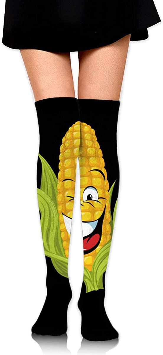 Corn Unisex Knee High Socks Work Athletic Over Long Stockings