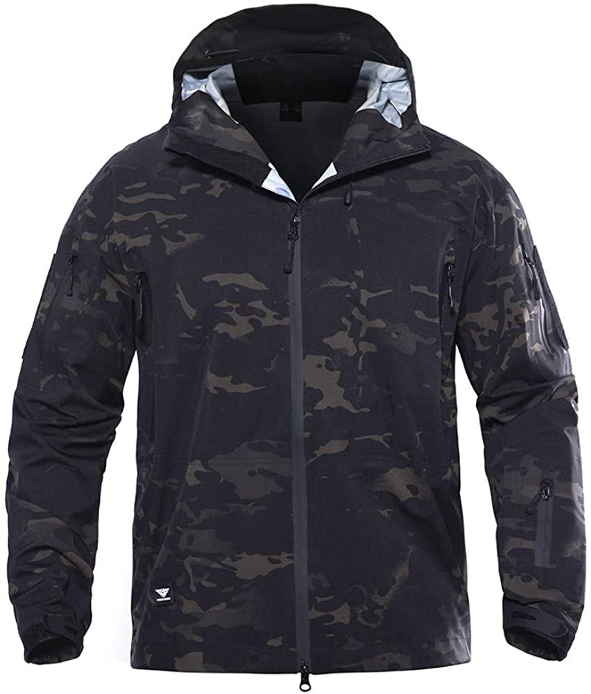 Sunnystacticalgear Tactical Coat Combat Camouflage Outdoor Hoody Hardshell Jacket