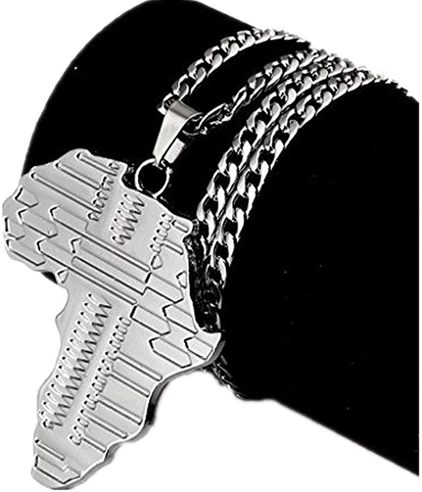 TIDOO Men&Women 18k Golden Pendant Chain Necklace, Hip HOP Boys Stainless-steelNecklace