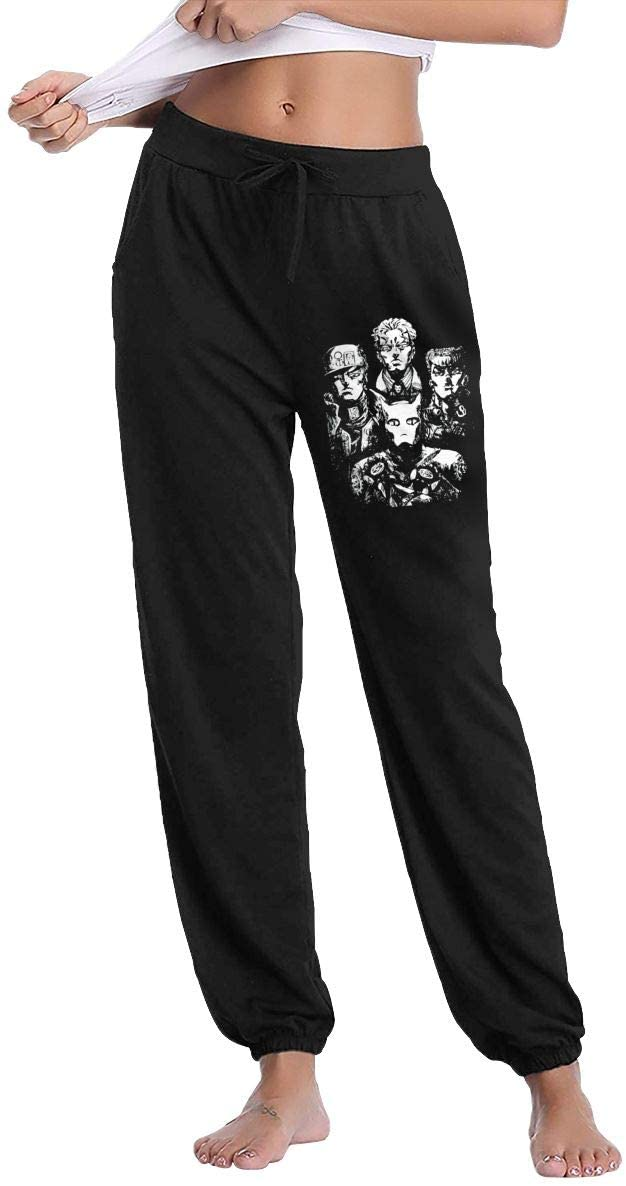 NOT JoJo's Bizarre Adventure Rivalry RAPSODY Slacks Sweatpants Trousers Woman's Casual Pants