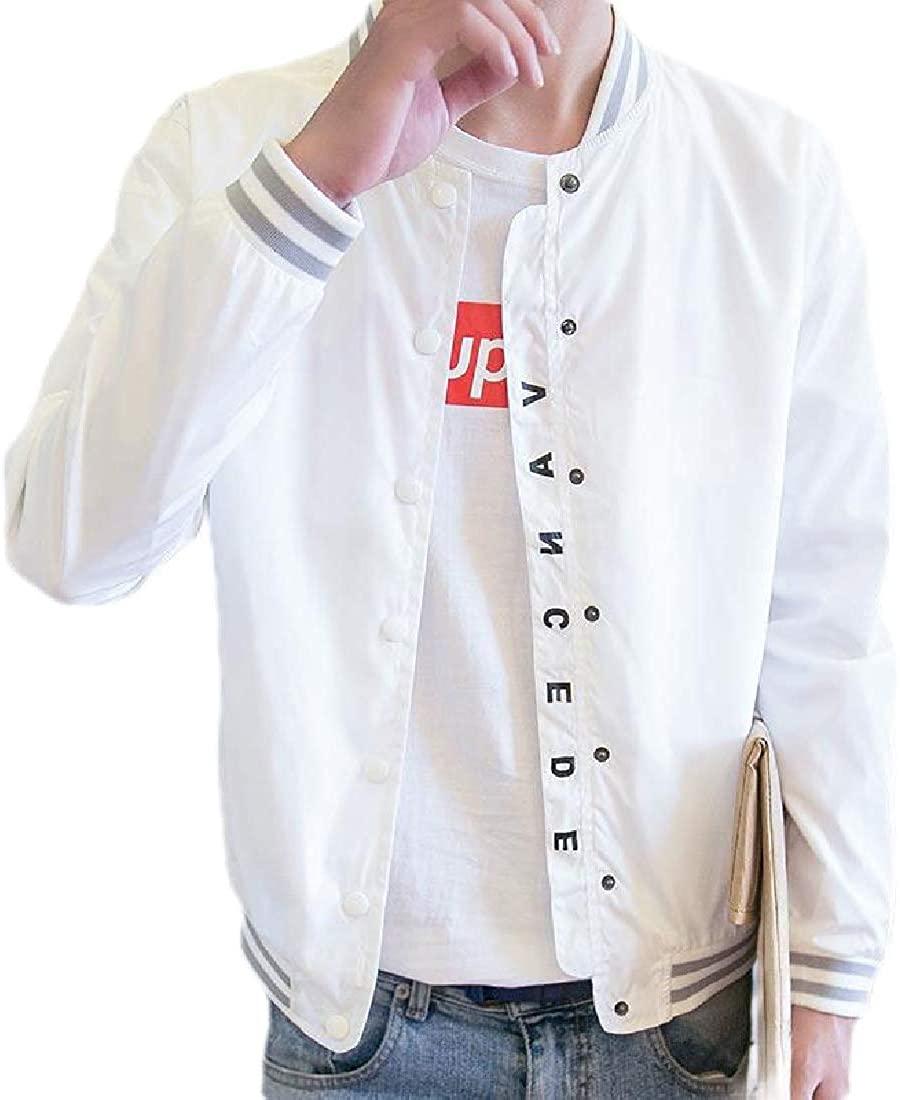 Sudhguyfuy Men's Slim Fit Lightweight Casual Zip Front Bomber Jacket Baseball Coat Outerwear