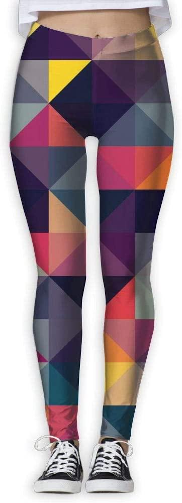 PIOL Womans Colored Triangle High Waist Skinny Leggings Yoga Jogger Sweatpants
