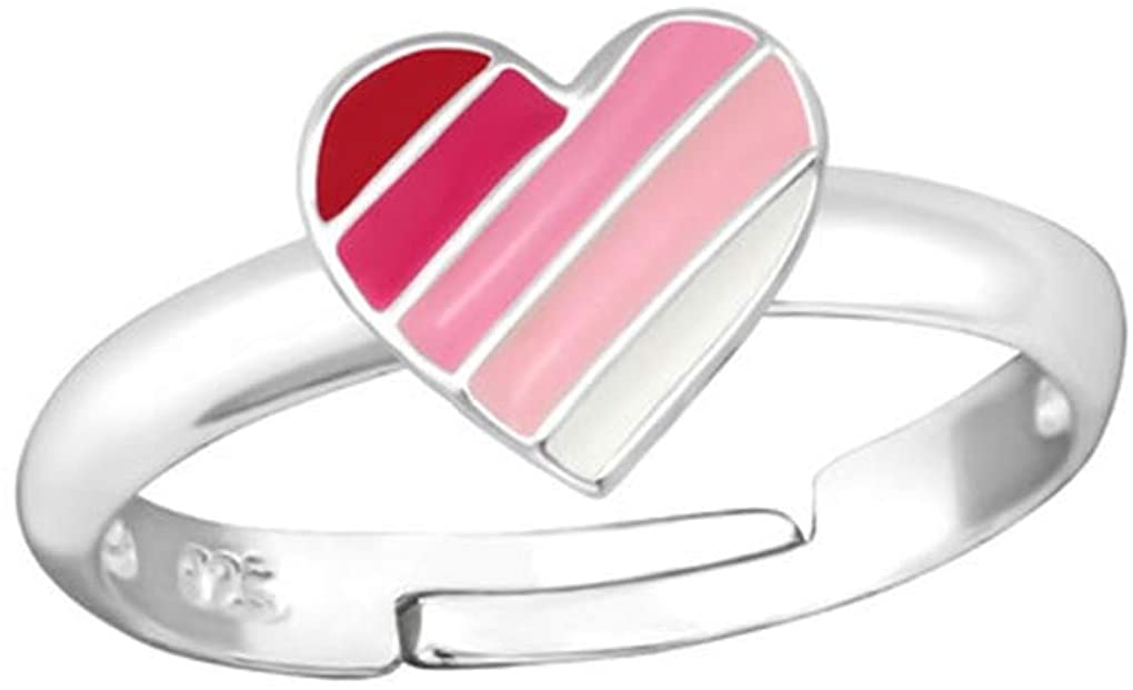 Liara - Heart Rings 925 Sterling Silver. Polished and Nickel Free