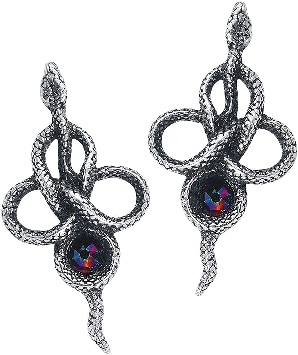 Alchemy Gothic England - Tercia Serpent Wiccan Earrings