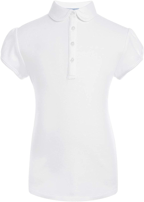 Tommy Hilfiger Short Sleeve Interlock Peter Pan Collar Girls Polo Shirt, School Uniform