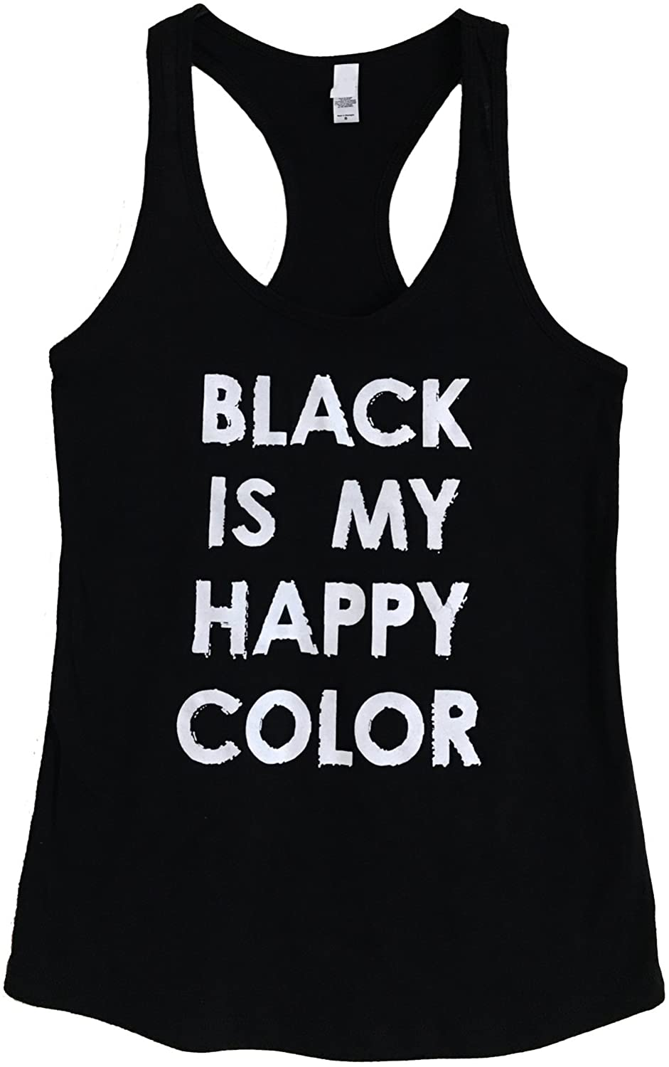 The Bold Banana Women's Black is My Happy Color Tank Top