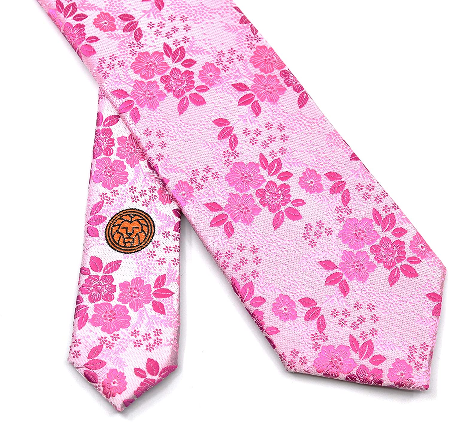 The Palermo - Pink Floral Mens Ties - TOUT Washable Neckties for Men