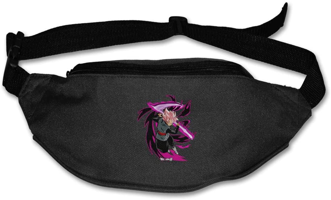 Dragon Ball Super Goku Super Saiyan Rose Pack Runners Belt Fanny Pack Running Belt Waist Black