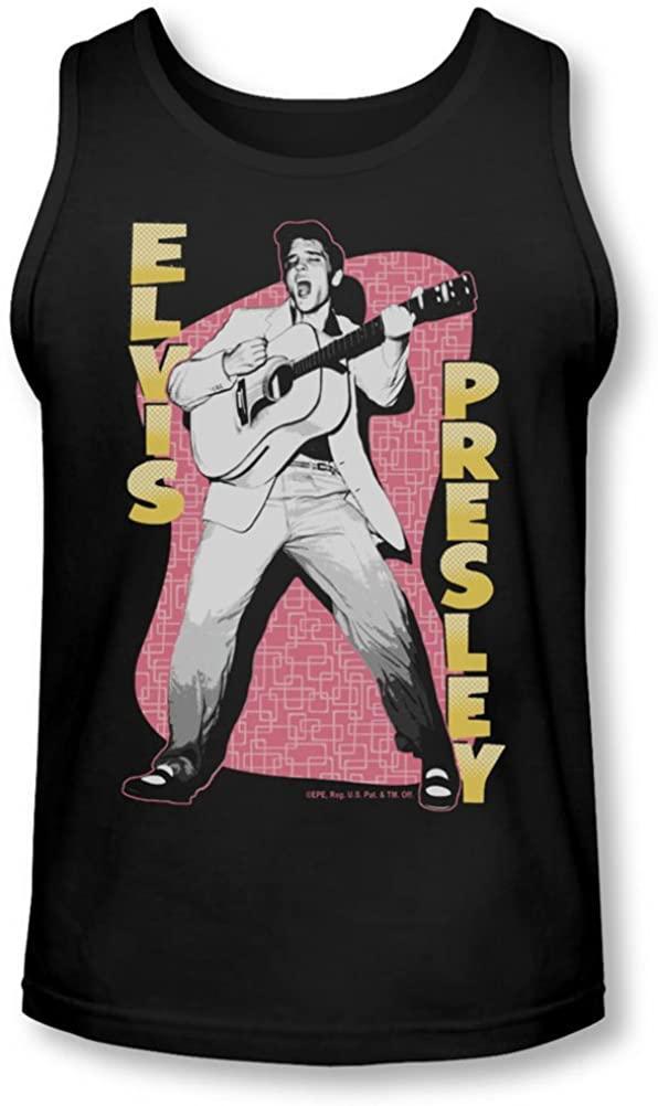 Elvis - Mens Pink Rock Tank-Top