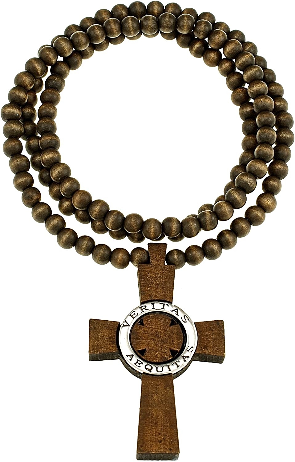 GWOOD Veritas Aequitas Wood Pendant Brown Color with 36 Inch Necklace