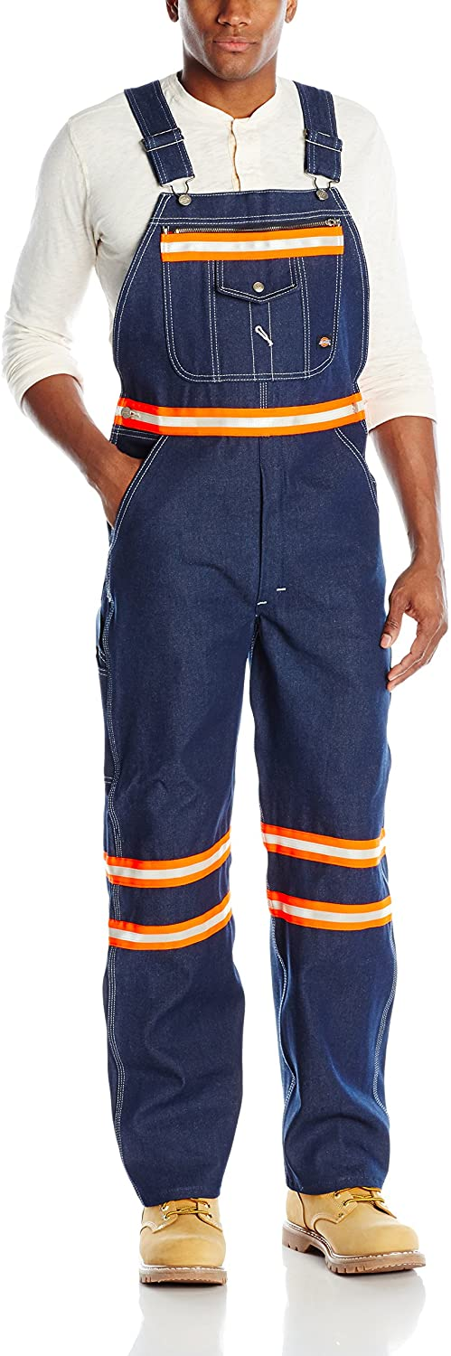 Dickies Men's Enhanced Visibility Bib Overall Non-ansi