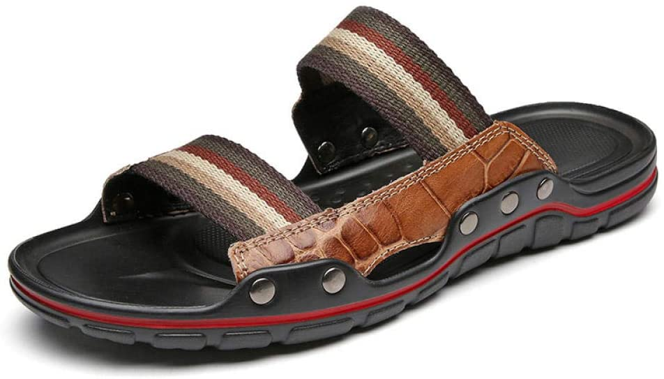 sandals Men's sandals men's beach shoes non-slip dual-purpose two-layer slippers