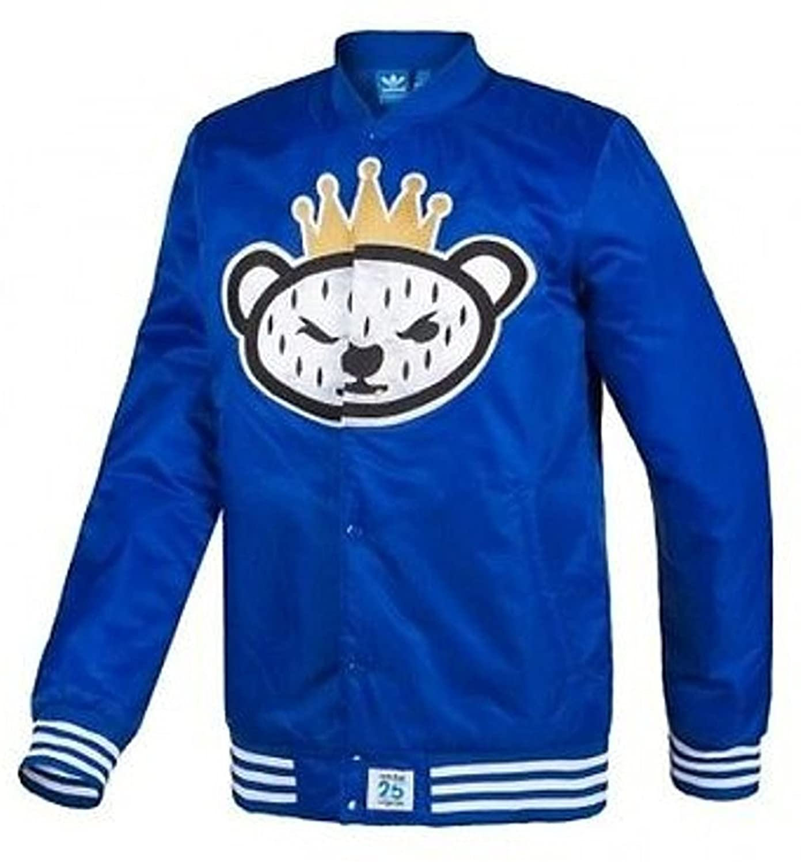 adidas Men's NIGO Bear NYC Stadium Jacket S23631,XL Blue
