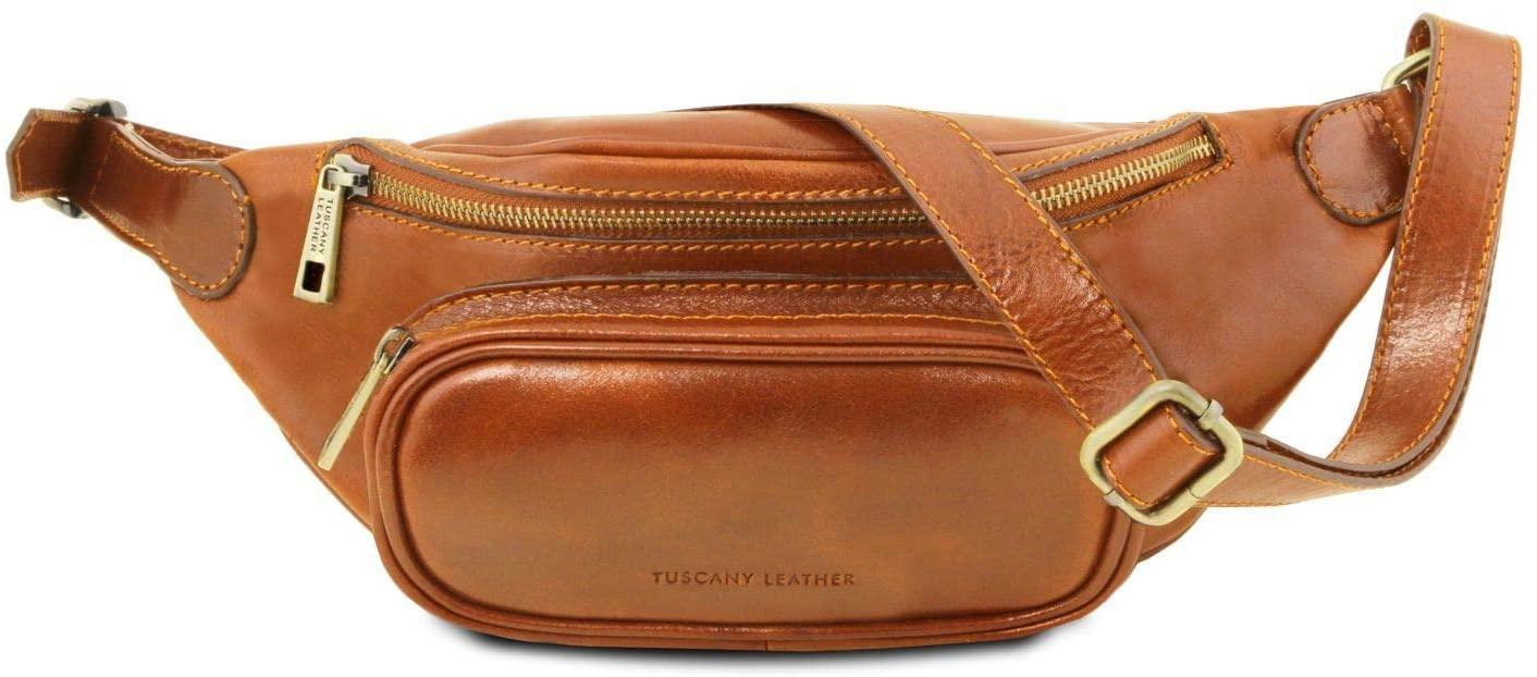 Tuscany Leather Leather fanny pack Honey