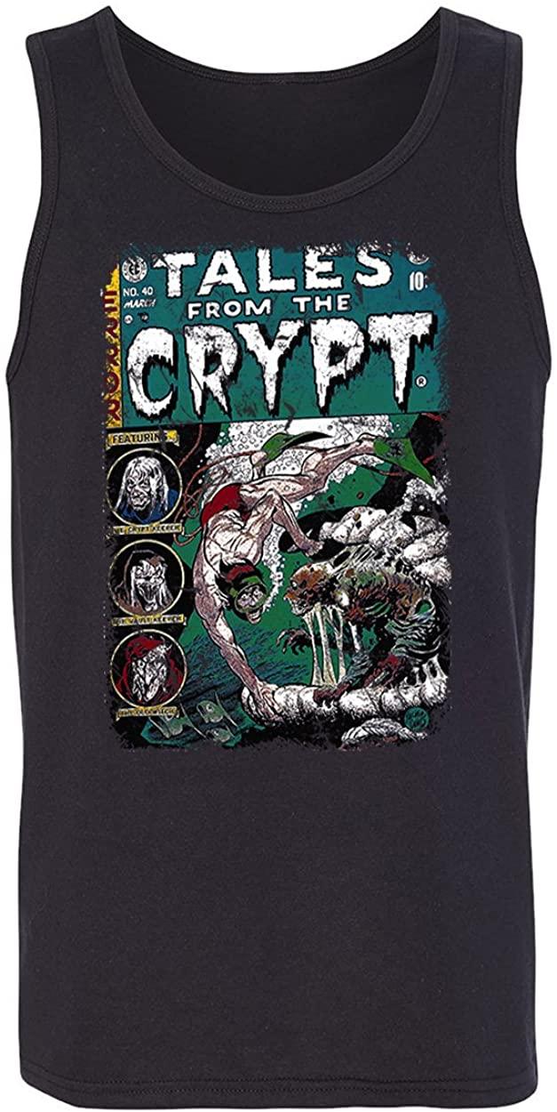 RIVEBELLA New Novelty Graphic Tee Horror Crypt Comic Tank Top