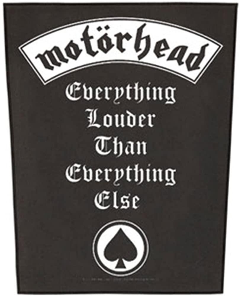 Motorhead Men's Everything Louder Back Patch Black