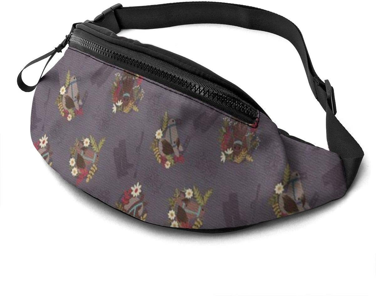 Horse Fanny Pack For Men Women Waist Pack Bag With Headphone Jack And Zipper Pockets Adjustable Straps